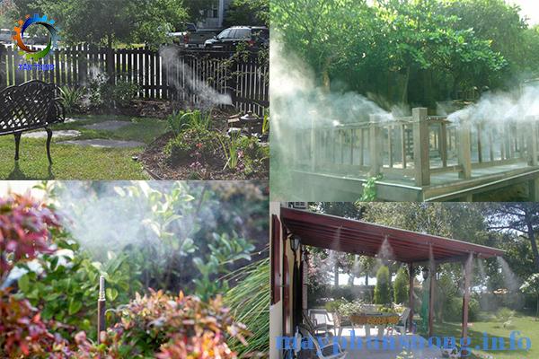 máy phun sương tưới vườn lan
