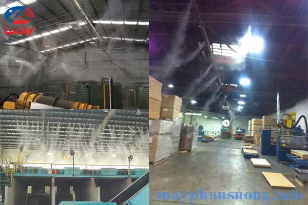 Máy phun sương làm mát nhà xưởng