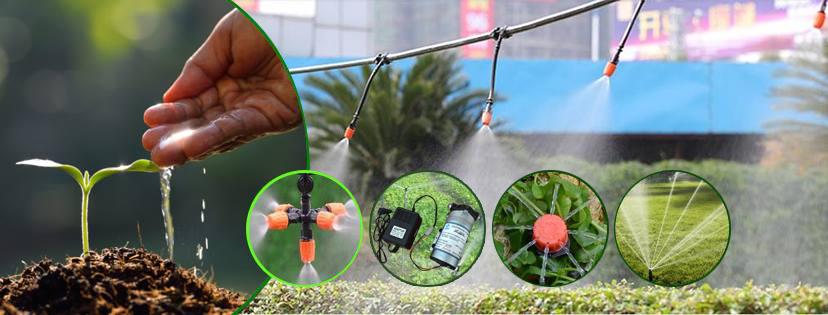 Hệ thống phun sương mini tưới cho rau giá rẻ